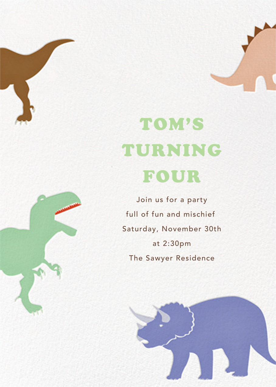 Dinosaurs - Paperless Post - Invitations