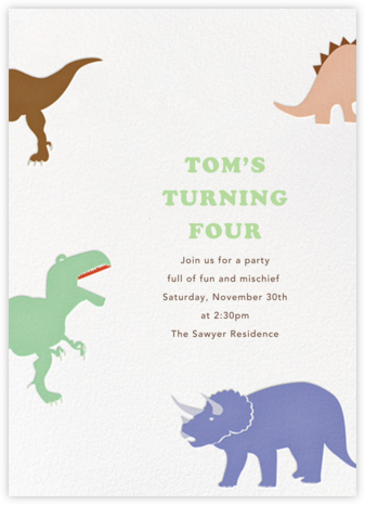 Dinosaurs - Paperless Post - Birthday invitations