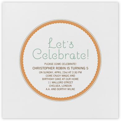 Dots - Orange - bluepoolroad - bluepoolroad invitations and cards