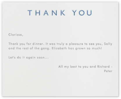 Double Thank You - Blue and Navy - Paperless Post - Greetings