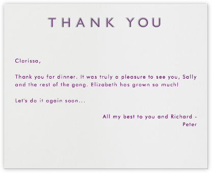 Double Thank You - Gray and Purple - Paperless Post - General thank you notes
