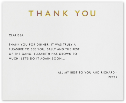 Double Thank You - Yellow - Paperless Post