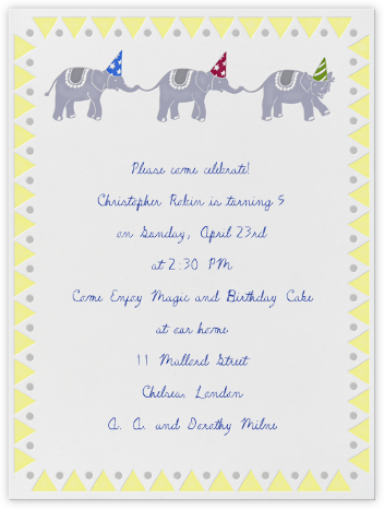 Elephant Birthday Party - Paperless Post -