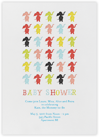 Elephants Parade Madison - Japanese Mix - Mr. Boddington's Studio - Baby Shower Invitations