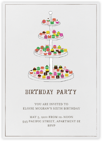 Everyone Loves Sweets - Birthday - Mr. Boddington's Studio - Kids' Birthday Invitations