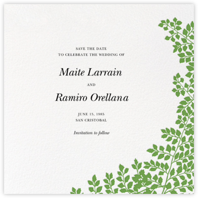 Fern II (Save the Date) - Green - Paperless Post - Save the dates