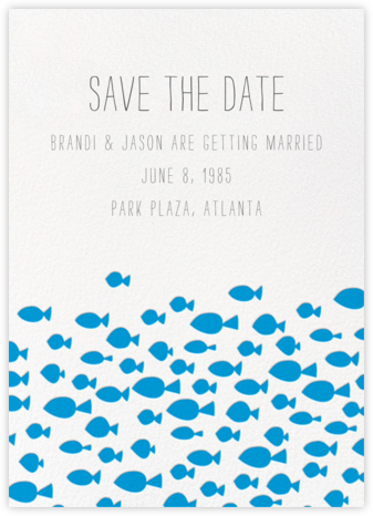 Fish Pattern - Linda and Harriett - Invitations