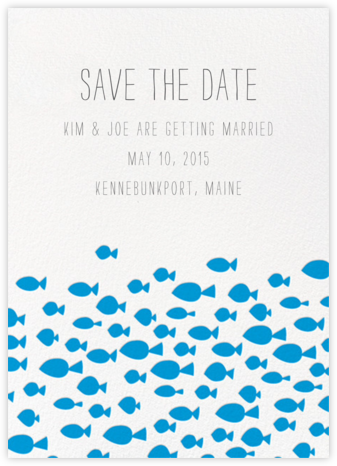 Fish Pattern - Linda and Harriett - Save the dates