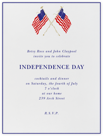 Formal Flags (Blue Stroke) - Paperless Post - Invitations