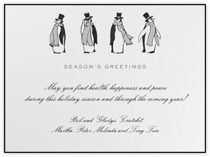 Formal Penguins (Ivory) - Paperless Post -