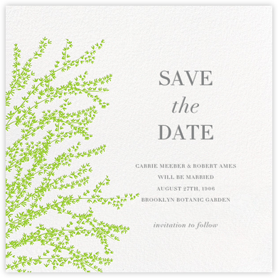 Forsythia - Green - Paperless Post - Save the dates