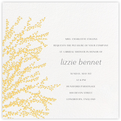 Forsythia - Citrus - Paperless Post - Bridal shower invitations