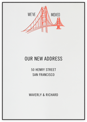 Golden Gate Bridge (Ivory) - Paperless Post - Moving announcements