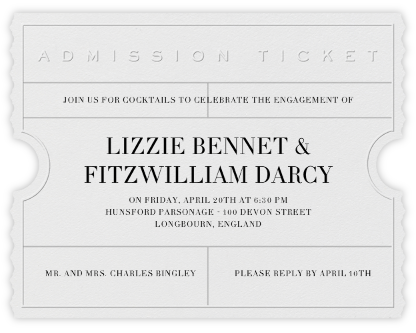 Golden Ticket (Ivory) - Paperless Post - Engagement party invitations