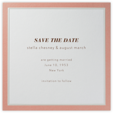 Grasse (Antique Pink) - Paperless Post - Save the dates