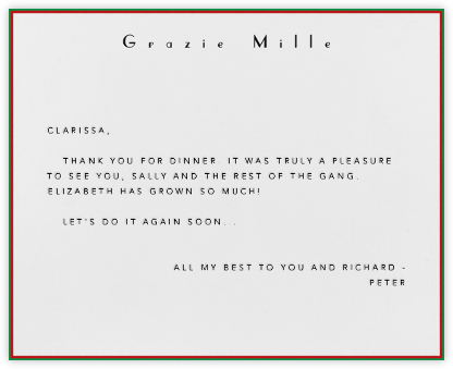 Grazie Mille - Paperless Post - General thank you notes