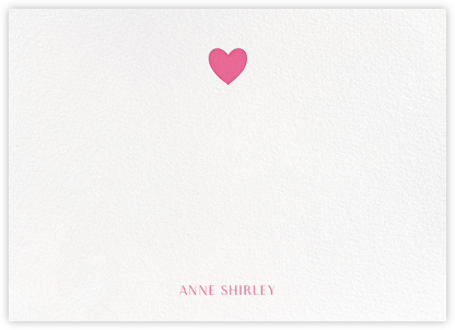Heart Thank You - Pink - Paperless Post - Baby and kids' stationery
