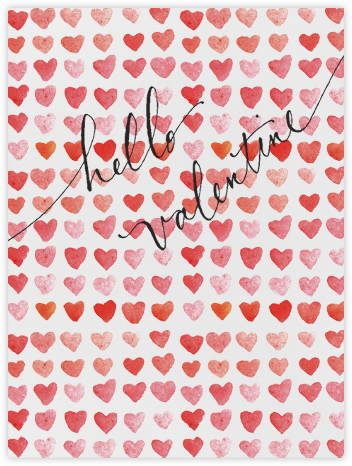 Hello Valentine - Red - Linda and Harriett - Valentine's day cards