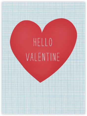 Hello Valentine Crosshatch - Linda and Harriett -