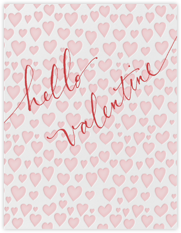 Hello Valentine - Pink - Linda and Harriett - Valentine's Day Cards