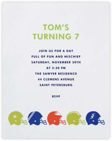 Helmets - Paperless Post - Online Kids' Birthday Invitations