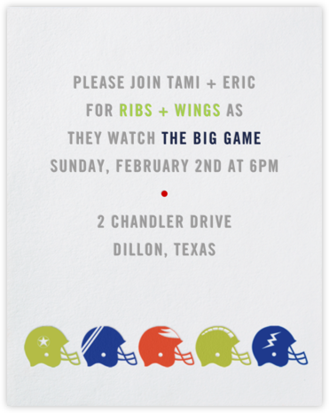 Helmets - Paperless Post - Sporting Event Invitations