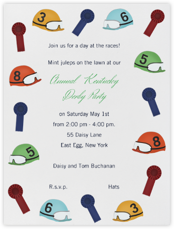 Helmets and Ribbons - Paperless Post - Sporting Event Invitations