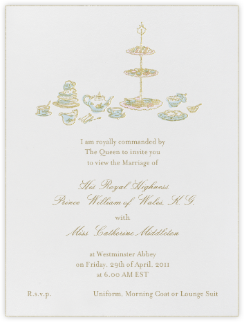 High Tea - Blue - Paperless Post - General Entertaining Invitations