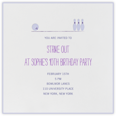 Hit the Lanes - Wisteria - Mr. Boddington's Studio - Kids' Birthday Invitations