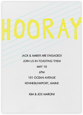 Hooray - Linda and Harriett - Engagement party invitations