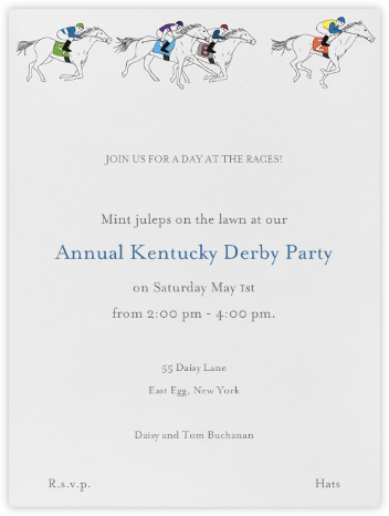 Horse Races - Paperless Post - Viewing Party Invitations