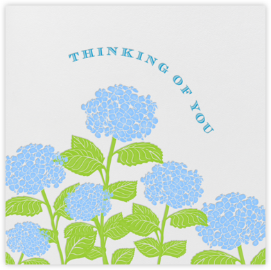 Hydrangea - Thinking of You (Ivory) - Paperless Post - Sympathy cards