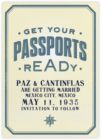 Passport Ready - Crate & Barrel - Crate and Barrel invitations and save the dates