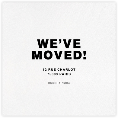 White (Square) - Paperless Post - Moving announcements