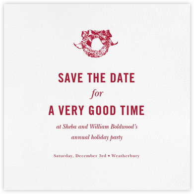 White (Save the Date) - Paperless Post - Holiday save the dates