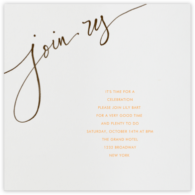 Join us - Brown - Linda and Harriett - Engagement party invitations
