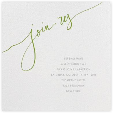 Join us - Green - Linda and Harriett - Reunion Invitations