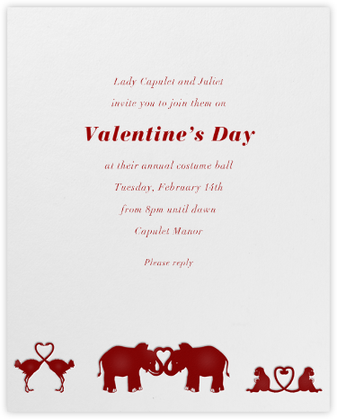 Jungle Valentine (Red) - Paperless Post - Valentine's Day invitations