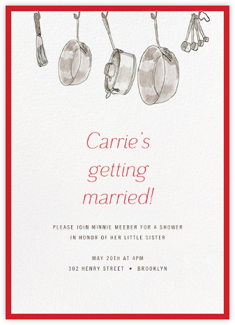 Kitchen Shower - Paperless Post - Bridal shower invitations