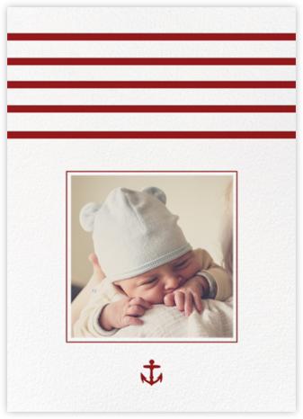 La Rochelle - Crimson - Paperless Post - Birth Announcements