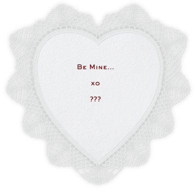 Lace Heart (White) - Paperless Post -