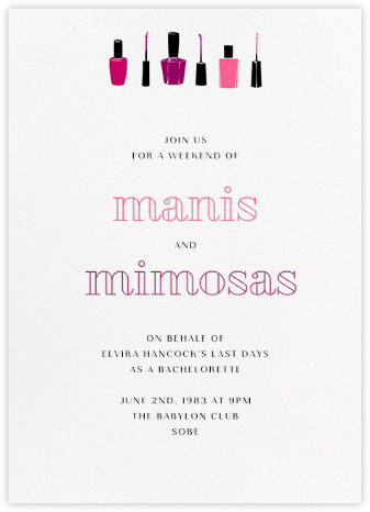Lacquer - Paperless Post - Bachelorette party invitations