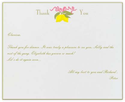 Lemons Thank You - Paperless Post - General thank you notes