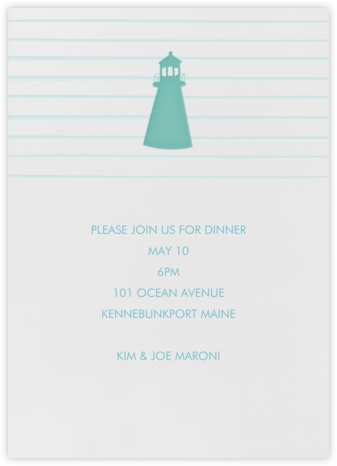 Lighthouse - Linda and Harriett - Summer entertaining invitations