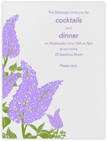 Lilac Flowers - Paperless Post - Online Party Invitations