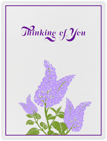 Lilac - Thinking of You - Paperless Post -