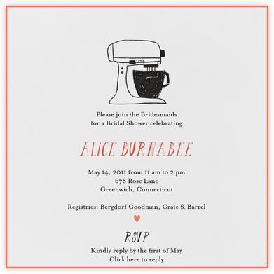 Little Miss Homemaker (Coral) - Mr. Boddington's Studio - Bridal shower invitations