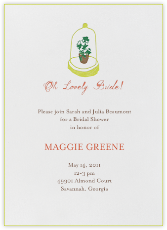 Lost in the Fern Bank - Mr. Boddington's Studio - Bridal shower invitations