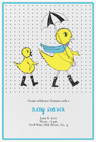 Mama Duck - Royal - Mr. Boddington's Studio - Baby Shower Invitations