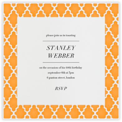 Marrakesh - Light Orange (Square) - Paperless Post - Adult birthday invitations